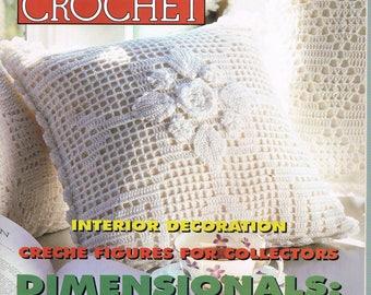 February 1996 Magic Crochet Magazine #100 - Doily Crochet Patterns - Pillow Crochet Pattern - Thread Crochet Patterns - Not A PDF