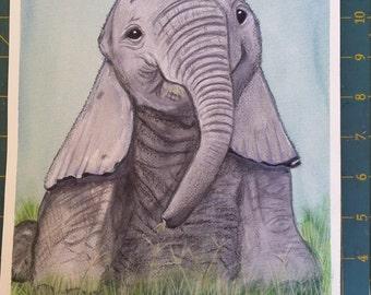 Baby Elephant artwork print