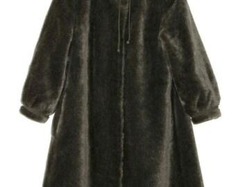 C_003) Vintage Green Alpaca Wool jacket