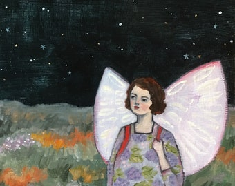 original oil painting - she longed to reach the stars  - fine art painting
