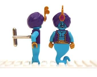 Genie cufflinks. Cufflinks made with LEGO(R) bricks.    Cuff links Cufflink Wedding gift