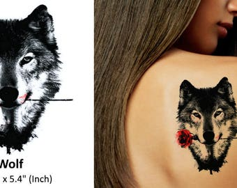 Wolf - Temporary Tattoo