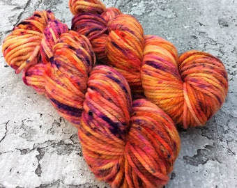 Special Batch Chunky Merino - hand-dyed yarn orange purple gold