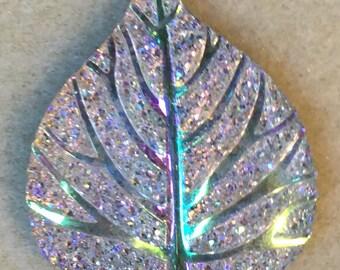 6pc Rhinestone Leaf