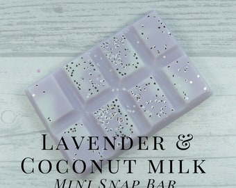 Soy Wax Melts, Lavender Coconut Milk, Scented Wax Tart, Soy Wax, Snap Bar,