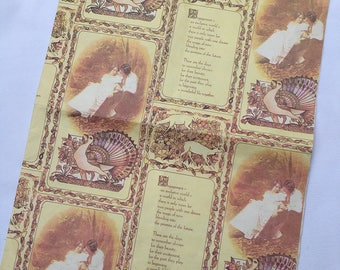 Vintage | Engagement | Wrapping Paper