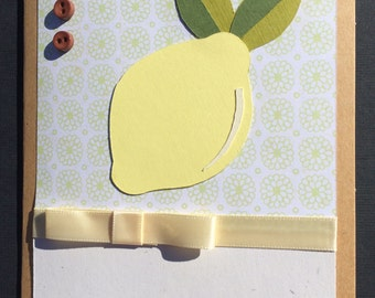Handmade Sour Lemon Note Card