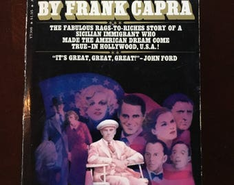 Paperback book Autographed by Frank Capra.  His Autobiography, The Name Above the Title.