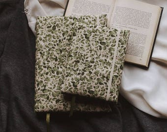 Handmade sketchbook with covers made of cotton | Sketchbook A5 | A6