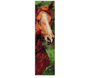 Peyote Bracelet Pattern Horse named Blaze