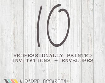 10 Professionally Printed Invitations