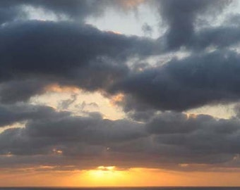 Sea and Clouds - Greeting Cards, photo cards, Big Sur Ocean, Sunset, Sky, Nature,  Set of 5 Cards
