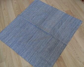 "Square tablecloth, Cotton tablecloth, COTTON, handvoven , 35"" x 37"""