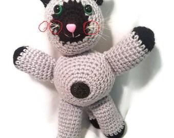 Crochet Plushie Kitten OOPS