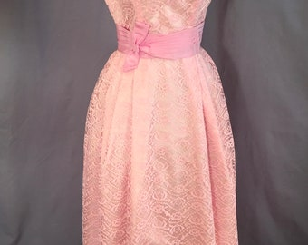 Emma Domb / Lace Dress Vintage 1960s / Formal Gown
