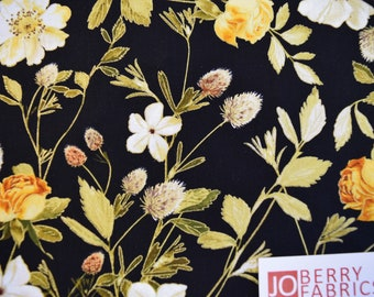 Wildflowers from the Natural Beauty Collection by Maria Kalinowski for Kanvas with Benartex, Quilt or Craft Fabric, Fabric by the Yard
