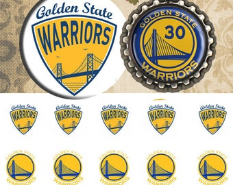 Golden state warriors -  25 mm or 1 inch Bottle Cap Images 4x6 Digital Collage INSTANT DOWNLOAD