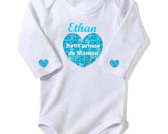 Prince MOM personalized with name Bodysuit