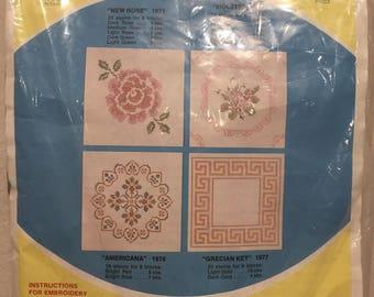 WonderArt Creative Needlecrafts - Quilt Blocks to Embroider - Americana - Vintage