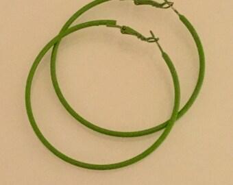 Large Enamel Hoop Earrings
