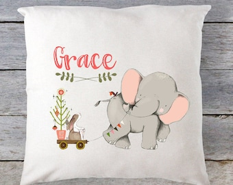 Elephant Pillow Baby Pillow Personalized Christmas Pillow Pillow Christmas Pillow Elephant Pillow Travel Pillow Baby Pillow RyElle