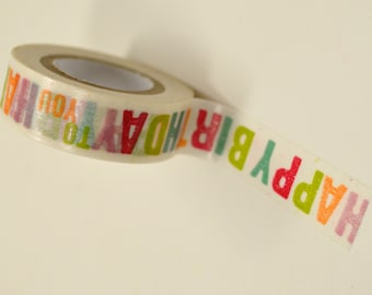 Washi Tape - 15mm - Happy Birthday to You - Deco Paper Tape No. 859