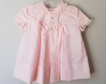 Vintage 60s Girls Pink Party dress by C.I. Castro- Size 12-18 months - New, never worn -Easter Dress