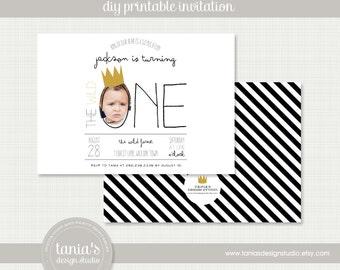 Wild One Printable Birthday Invitation by tania's design studio
