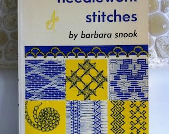 1973 Vintage Craft Book - Needlework Stitches by Barbara Snook