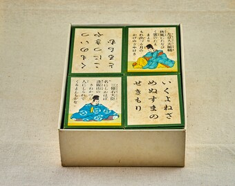 Uta-garuta cards set. Classical, vintage, Japanese card game.