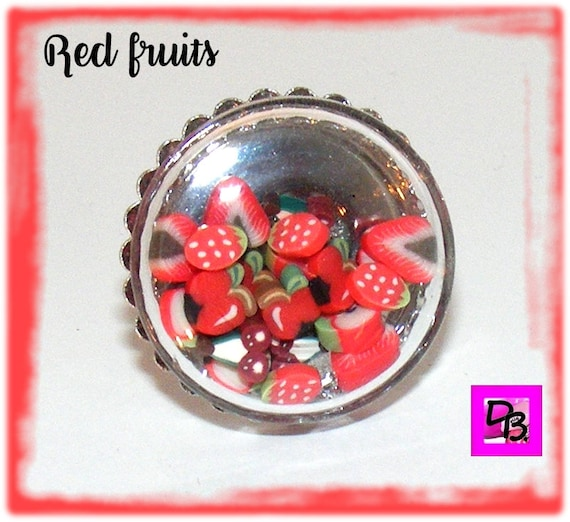 Bague globe [Red fruits]