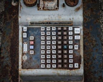 Antique Calculator Print