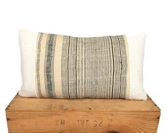 12x20 inch Lumbar Vintage Hmong Pillow Cover