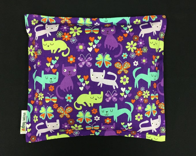 Heating Pad Corn Bag, Microwave Heating Pad, Heated Bag, Children's Corn Bags, Cold Pack, Relaxation Gift, Get Well Gift, Cat Corn Bag