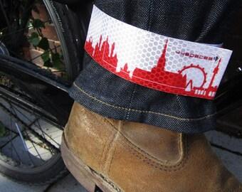 Bike Gift Idea Vienna Skyline Reflex, Bike Accessories, Bike Lover Gift, Vienna Bicycle Cycling Gift, Vienna reflective ankle leg strap