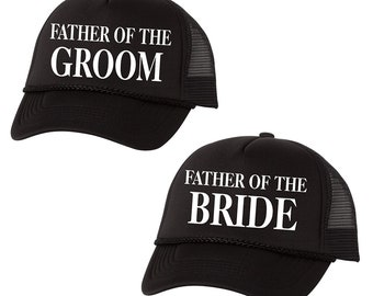Father of the Groom Father of the Bride Hat Set