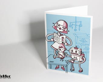 Greeting card - baby to assemble