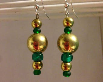 Gold and Green Beads