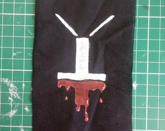 Dripping Blood Inverted Cross Patch