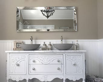 BATHROOM VANITY Double or Single We Custom Convert from Antique Furniture  For You - Victorian Farmhouse