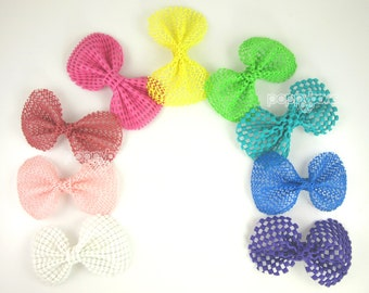 Reserved for Danielle - Full Collection of Small Waterproof Bows and 2 Large Waterproof Bows in White and Hot Pink