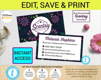 Scentsy business card Etsy
