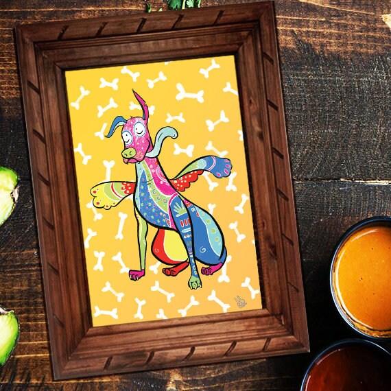 A3 Coco Disney Pixar Dante Poster Wall Art décoration Mexican