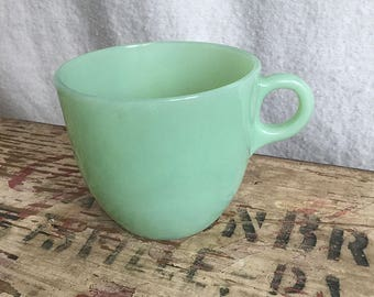 Vintage Fire King Jadeite C Handle Coffee Cup