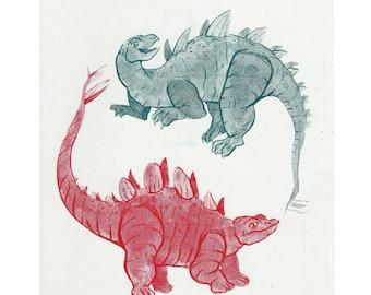 Double Dinosaur Print