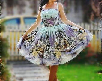 Pinup dress 'Superamanda dress Winter Wonderland Christmas dress