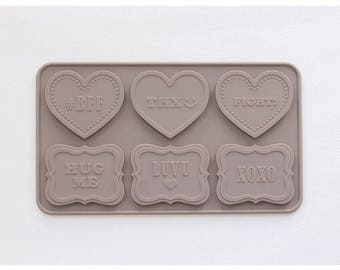 Chocolate Silicone Mold  With Message - Love