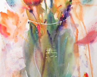 "Watercolor painting 6.40""x9.40"" (print of the original)"
