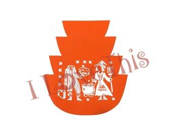 Pyrex Halloween Butterprint bowl stack vinyl decal