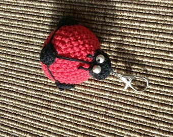 Beautiful Red Ladybug keychain